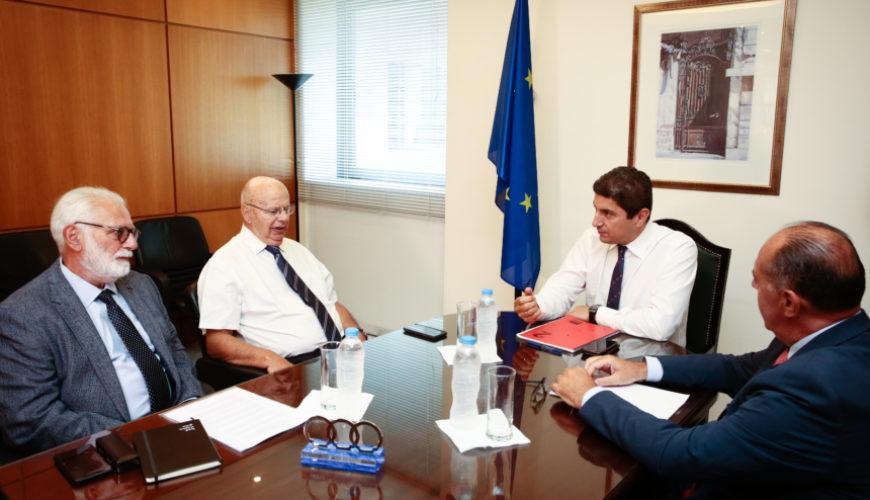 Συνάντηση Αυγενάκη - Βασιλακόπουλου και συζήτηση για Ολυμπιακό