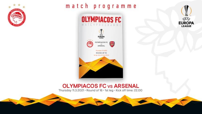 Το Match Programme του αγώνα Ολυμπιακός – Άρσεναλ!