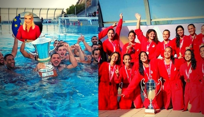 Τσιλιγκίρη: «Κολυμπάμε στις κούπες! Συγχαρητήρια στις ομάδες του Ολυμπιακού!» (pic)